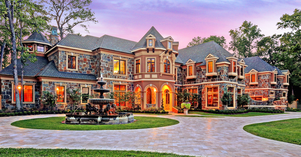 Luxury houston texas mansion for sale by auction supreme for Castle mansions for sale