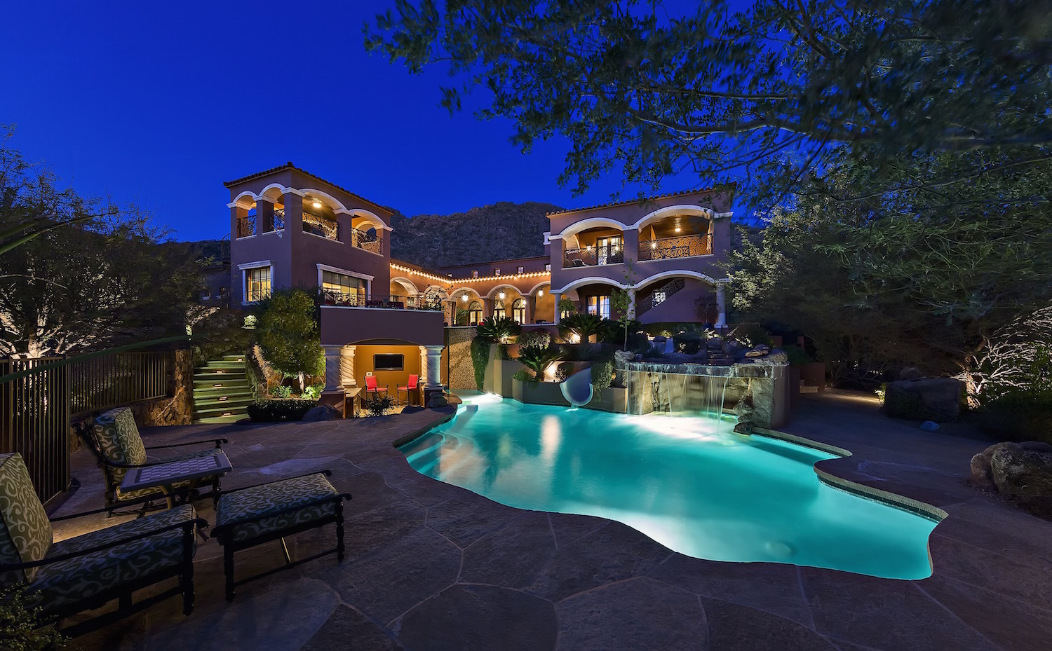 3 santa barbara style luxury homes for sale in arizona for Fine homes for sale